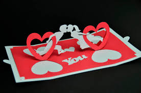 valentine u0027s day pop up card twisting heart creative pop up cards