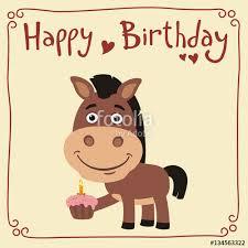 horse happy birthday clipart clipartxtras