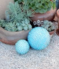 Gazing Globe Pedestal Diy Faux Gazing Ball For The Garden