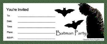 party invitations super heroes batman party invitations