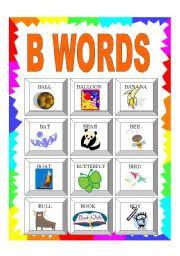 worksheet alphabet b words