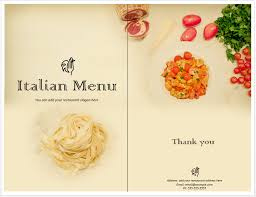 italian menu templates 28 images italian menu template 004
