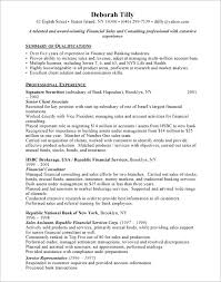 financial consultant cover letter trainee financial advisor cover