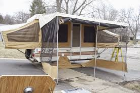 Rv Awning Shade Screen So The Pop Up Camper Redo Has Begun Here Is The Camper All Popped