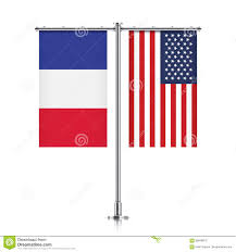 French Flag Banner France And Usa Flags Hanging Together Stock Vector Image 85856813