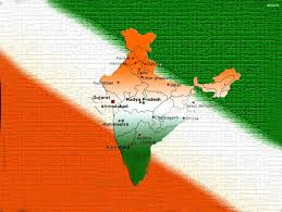 Indian Map Indian Flag In India Map Wallpaper