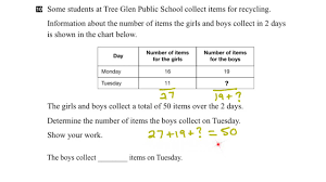 eqao grade 3 math 2015 question 10 solution youtube
