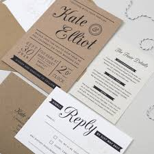 Stamps For Wedding Invitations Kraft Stamp Wedding Invitation By Pear Paper Co