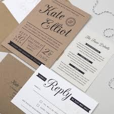 wedding invitations kraft paper kraft st wedding invitation by pear paper co