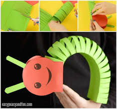 3d paper crafts 3d paper caterpillar craft with template easy