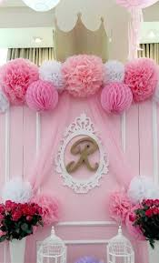 Welcome Back Party Ideas by Backdrop From A Pink Princess Baptism Party Via Kara U0027s Party Ideas