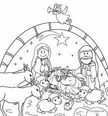 Nativity Coloring Pages Printable Coloringstar Free Printable Nativity Coloring Pages
