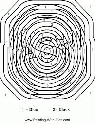 hard color number coloring pages coloring