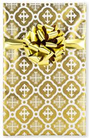 christian wrapping paper gold cross christian gift wrap