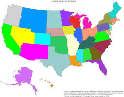 America Map With States by 50 States U2013 My Media Diary