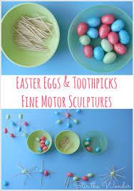 styrofoam easter eggs easter eggs toothpicks motor sculptures