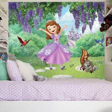 roommates 72 in w x 126 in h sofia the first friends garden xl h sofia the first friends garden xl chair rail 7 panel prepasted wall mural jl1400m the home depot
