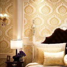 online get cheap velvet flock 3d damask wallpaper aliexpress com