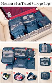 Waterproof Outdoor Cushion Storage Bag by Honana Hn Tb8 6pcs Waterproof Travel Storage Bags Packing Cube