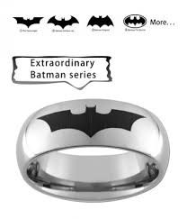custom jewelry engraving batman series personalized laser engraving ring in tungsten