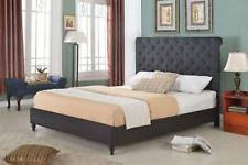 Black Platform Bed Queen Tufted Bed Ebay