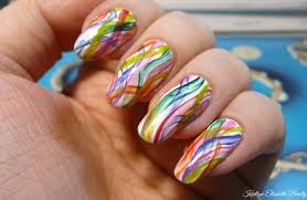 manimonday a rainbow nail art design that u0027s perfect for beginners
