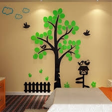 tree house acrylic 3d stereo wall stickers home decor tv