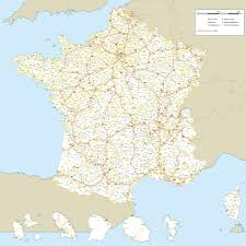 A Map Of France by Maps Of France