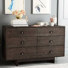 West Elm Bedroom Furniture by Emmerson Reclaimed Wood 6 Drawer Dresser Chestnut West Elm