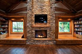 log cabin decorating ideas with a fireplace and above it equipped