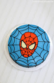 i heart baking spiderman birthday cake