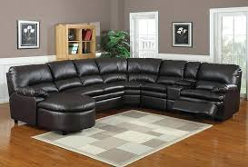 Leather Sectional Recliner Sofa by Flynn Black Bonded Leather Reclining Sectional Sofa With Console
