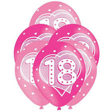 balloons for 18th birthday pink 18th birthday balloons 11 pack of 6 party packs