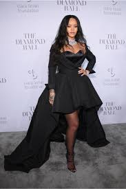 rihanna u0027s 3rd annual diamond ball black long sleeve off the