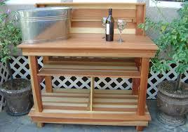 brooks woodworks potting table
