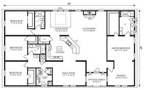 Ranch Floor Plans Appealing Four Bedroom House Plans 4 Bedroom Ranch House Within 4