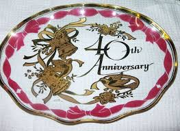 40th anniversary plates 192 best 40th wedding anniversary ruby images on