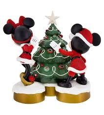 Minnie Mouse Christmas Decorations Disney Stocking Holder Santa Mickey And Minnie Mouse With Tree