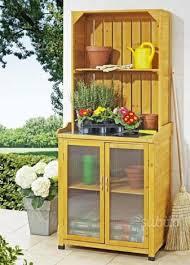 armadietto esterno armadio da esterno in legno a credenza giardino e fai da te in