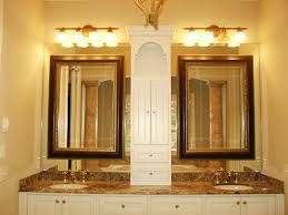 Wayfair Bathroom Mirrors - bathroom double wall mirror with wall lamps also brown granite
