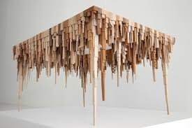 geometric wood sculpture geometric wooden sculptures depict abstract cityscape formations