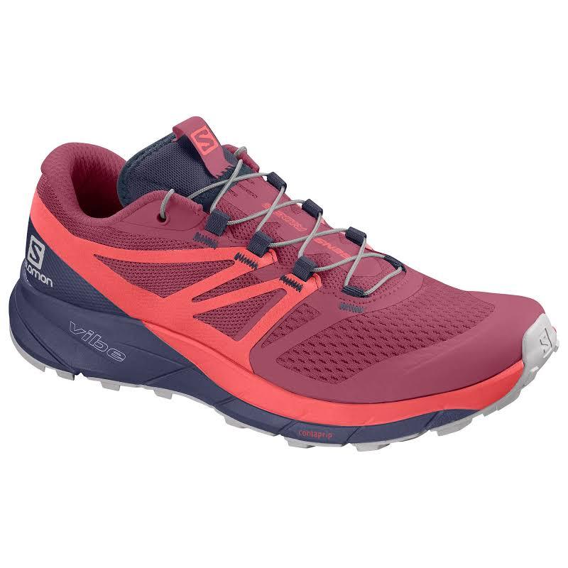 Salomon Sense Ride 2 Trail Running Shoe Malaga/Dubarry/Crown Blue Medium 8.5 L40676900-8.5