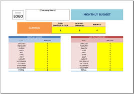 free monthly budget template for excel 2007 2016