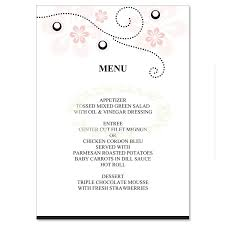wedding menu templates pink black wedding menu templates soft pink do it