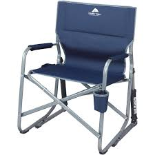 Flat Folding Chair Ozark Trail Portable Rocking Chair Walmart Com