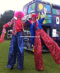 stilts clown circus themed stilt walkers walking acts