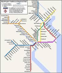 Light Rail Stops Baltimore Md U0026 Va Commuter Rail Look Great Together On One Map U2013 Greater