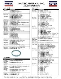 lexus gx470 cv joint kotek america inc axle components flyer by kotek sealkits issuu