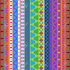 illustration of seamless background with a aztec and mexican