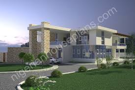 5 bedroom duplex country home nigerian house plans